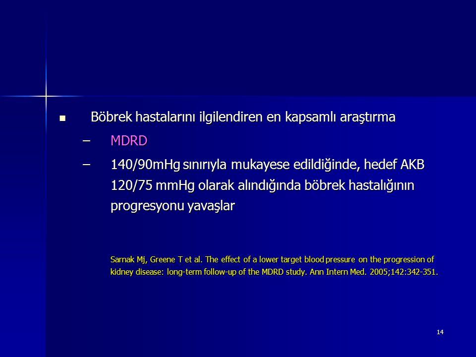 Böbrek hastalarını ilgilendiren en kapsamlı araştırma MDRD