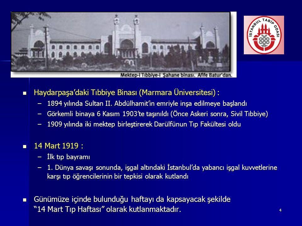 Haydarpaşa'daki Tıbbiye Binası (Marmara Üniversitesi) :