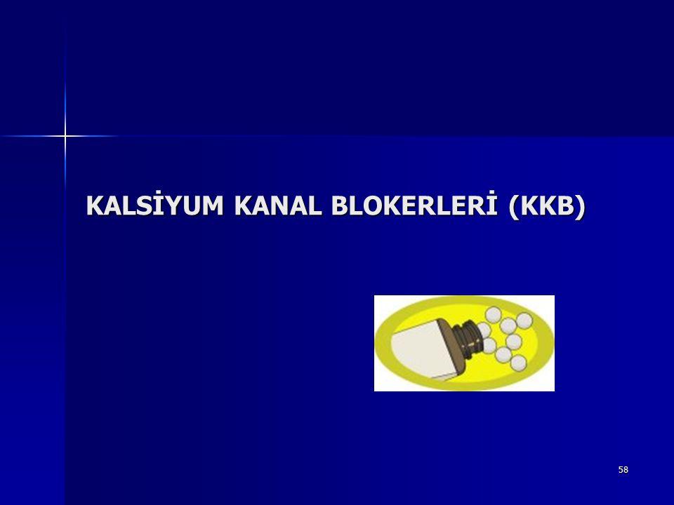KALSİYUM KANAL BLOKERLERİ (KKB)
