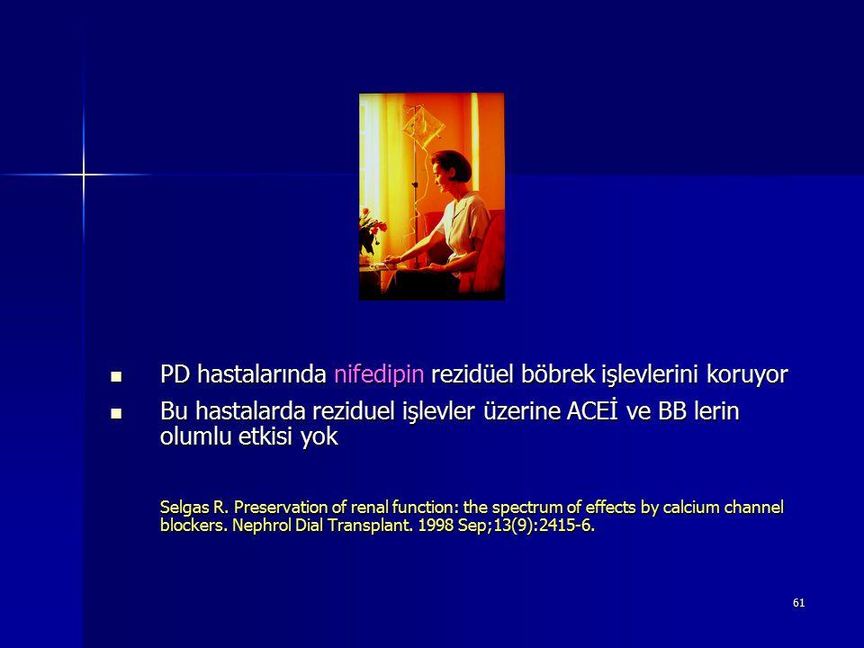 PD hastalarında nifedipin rezidüel böbrek işlevlerini koruyor