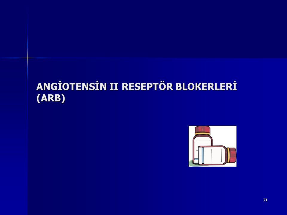 ANGİOTENSİN II RESEPTÖR BLOKERLERİ (ARB)
