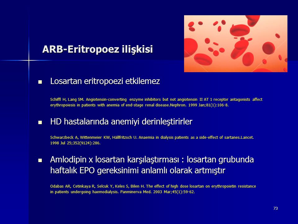 ARB-Eritropoez ilişkisi