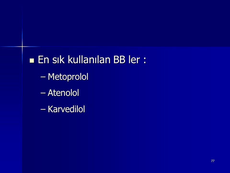 En sık kullanılan BB ler :