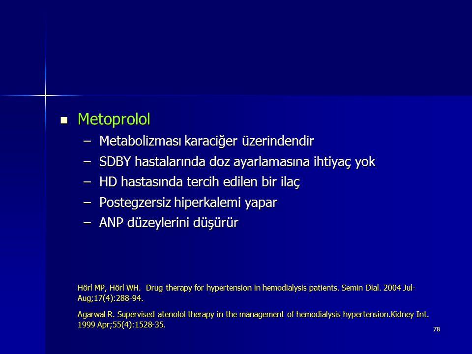 Metoprolol Metabolizması karaciğer üzerindendir