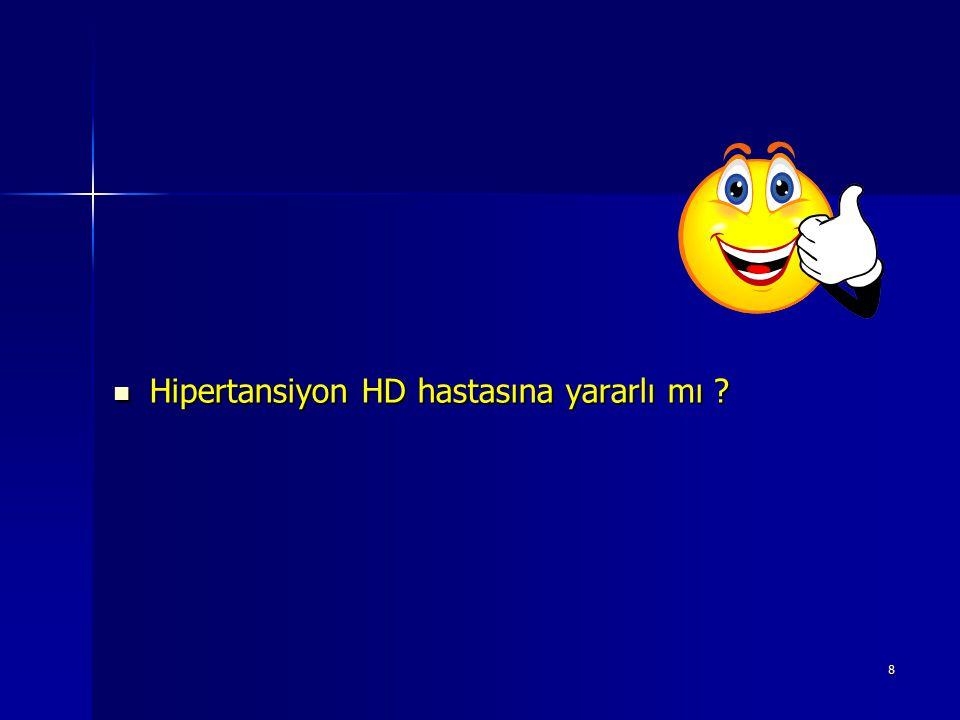 Hipertansiyon HD hastasına yararlı mı