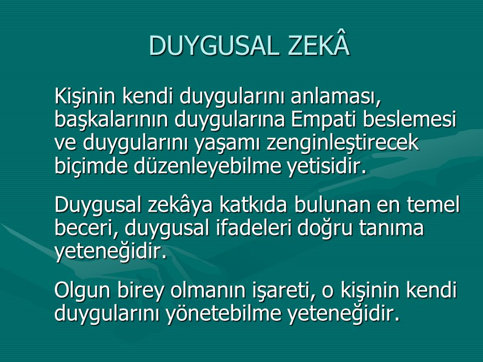 DUYGUSAL ZEKÂ