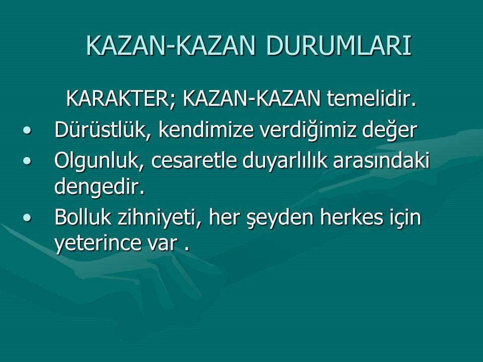 KAZAN-KAZAN DURUMLARI