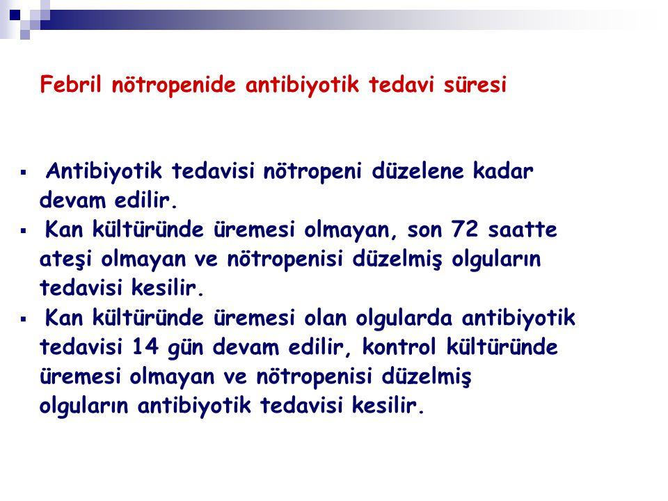 Febril nötropenide antibiyotik tedavi süresi