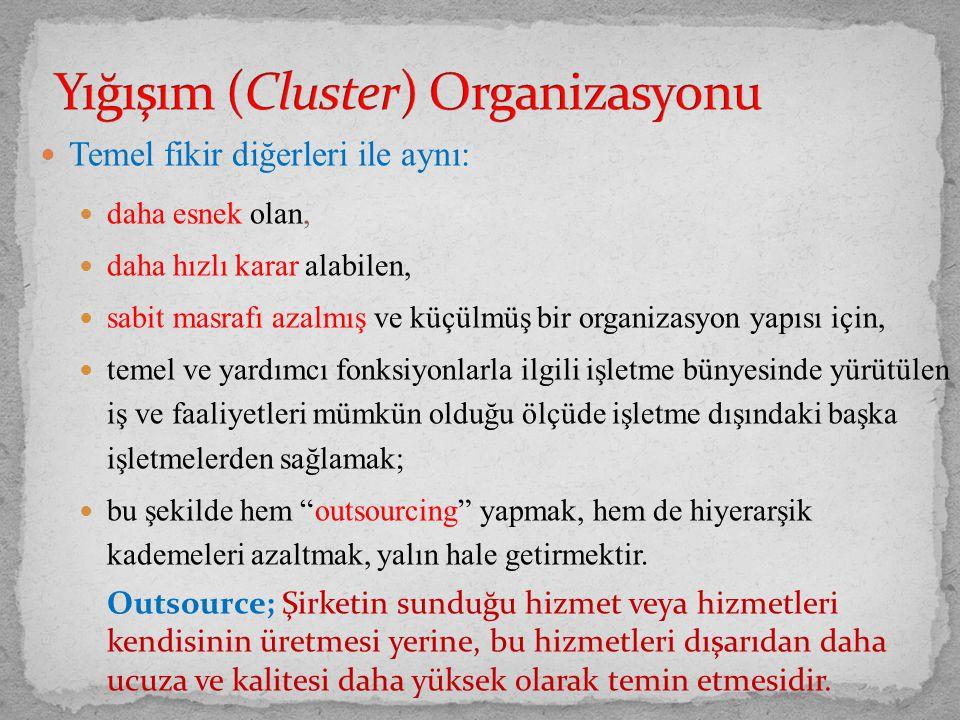 Yığışım (Cluster) Organizasyonu