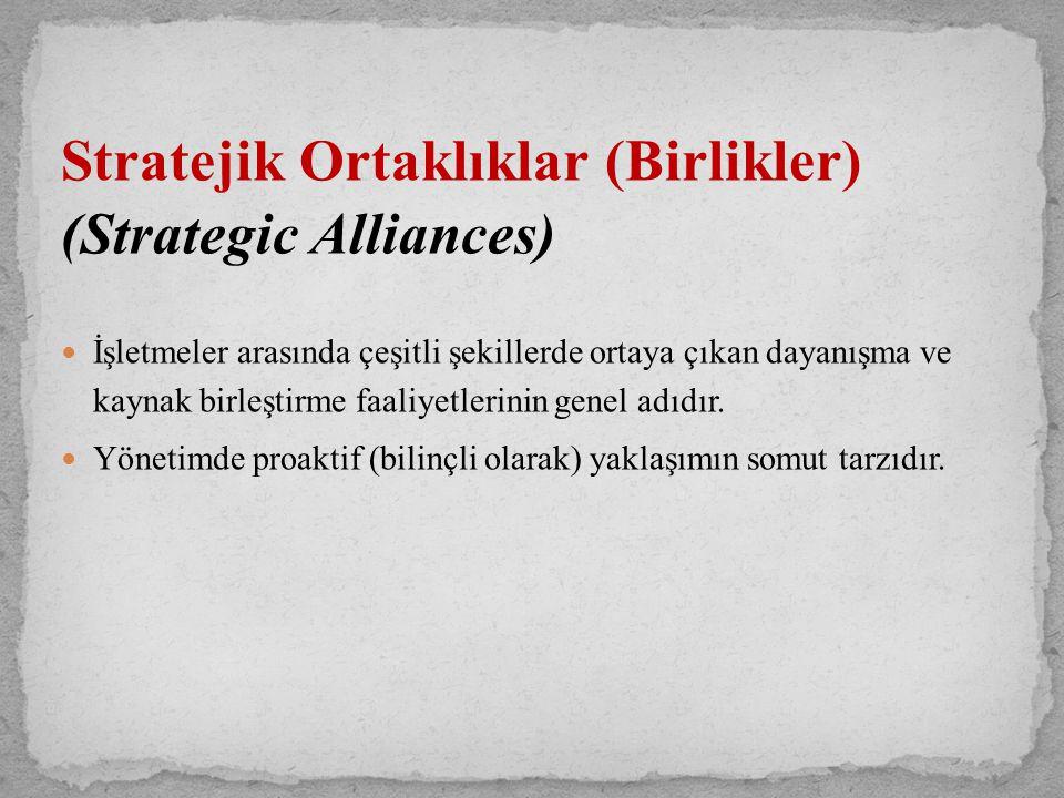 Stratejik Ortaklıklar (Birlikler) (Strategic Alliances)