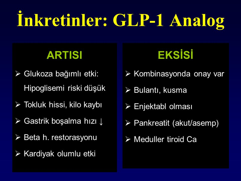İnkretinler: GLP-1 Analog