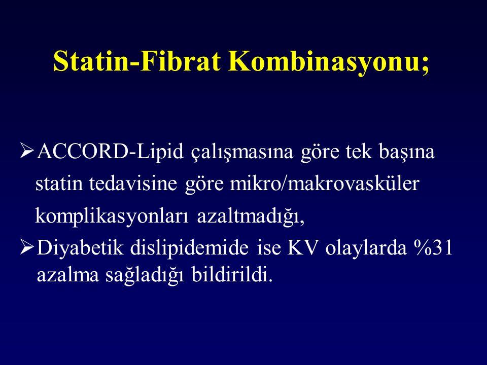 Statin-Fibrat Kombinasyonu;