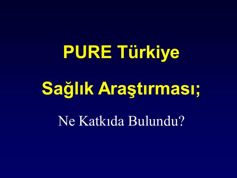 PURE Türkiye Sağlık Araştırması;