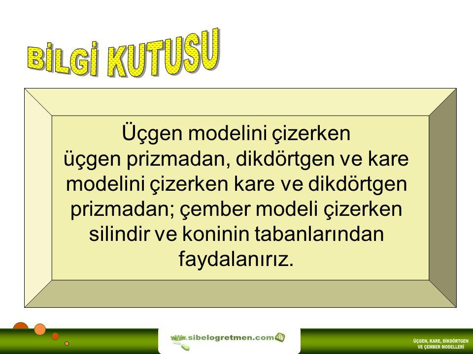 BİLGİ KUTUSU sibelogretmen.com ÜÇGEN, KARE, DİKDÖRTGEN