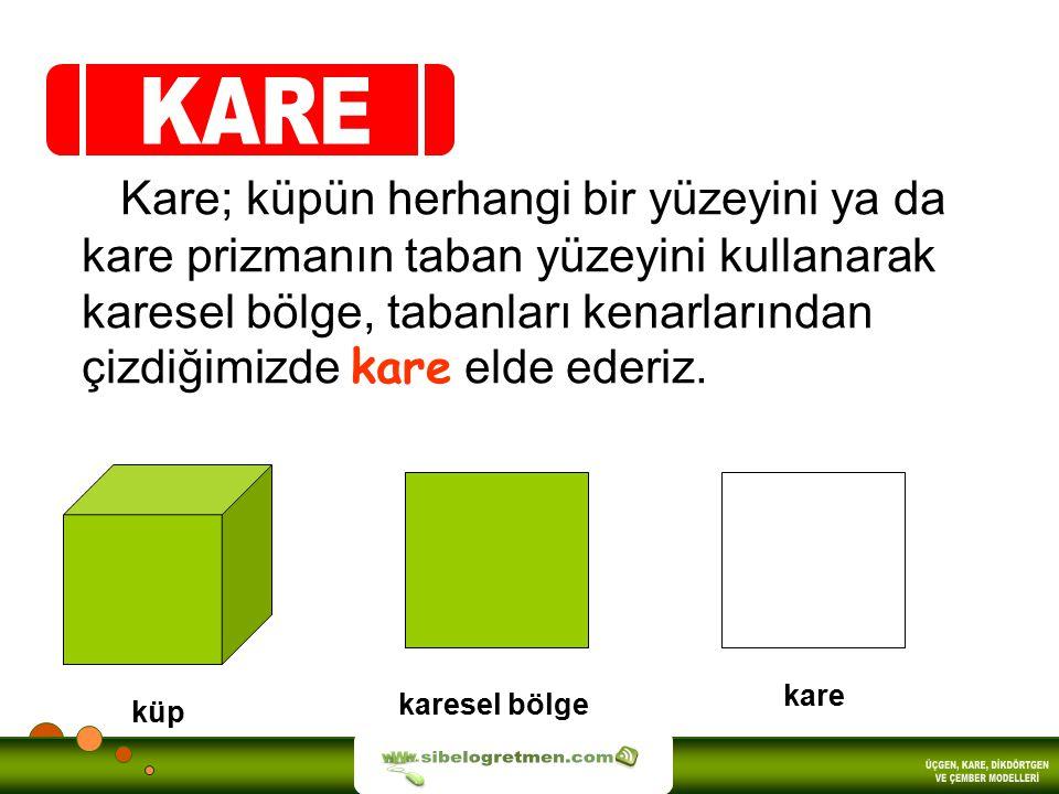 KARE sibelogretmen.com ÜÇGEN, KARE, DİKDÖRTGEN VE ÇEMBER MODELLERİ