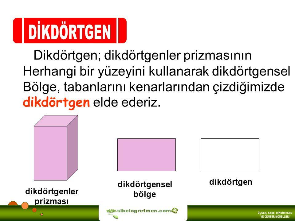DİKDÖRTGEN sibelogretmen.com ÜÇGEN, KARE, DİKDÖRTGEN