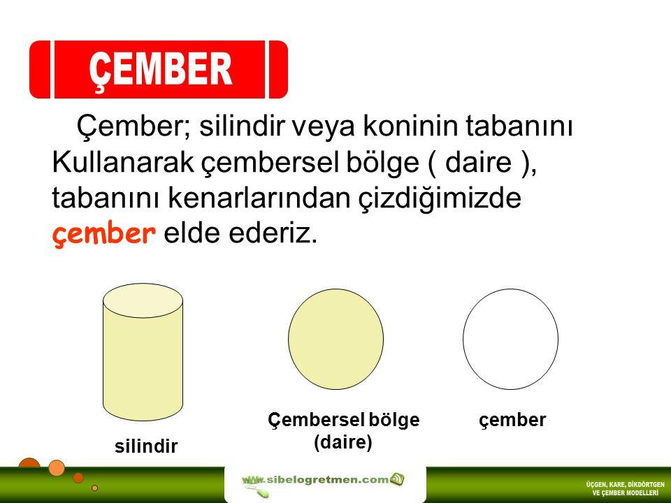 ÇEMBER sibelogretmen.com ÜÇGEN, KARE, DİKDÖRTGEN VE ÇEMBER MODELLERİ