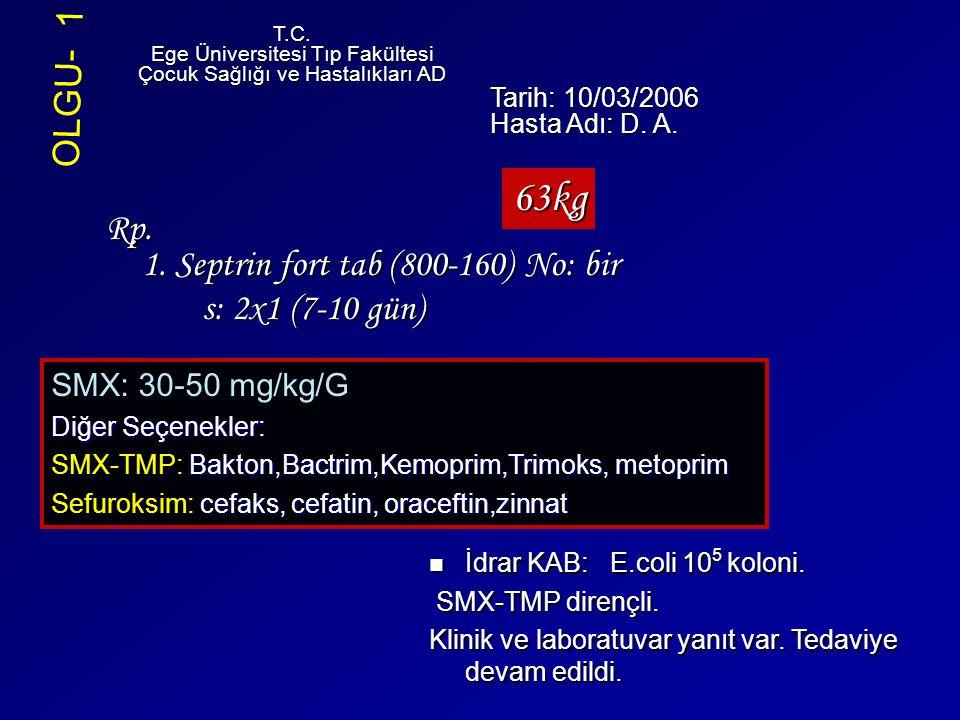 63kg OLGU- 1 Rp. 1. Septrin fort tab (800-160) No: bir