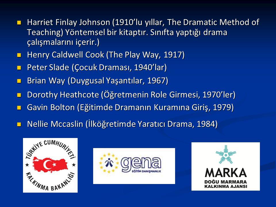 Harriet Finlay Johnson (1910'lu yıllar, The Dramatic Method of Teaching) Yöntemsel bir kitaptır. Sınıfta yaptığı drama çalışmalarını içerir.)