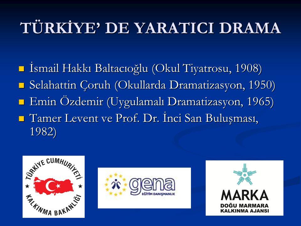 TÜRKİYE' DE YARATICI DRAMA
