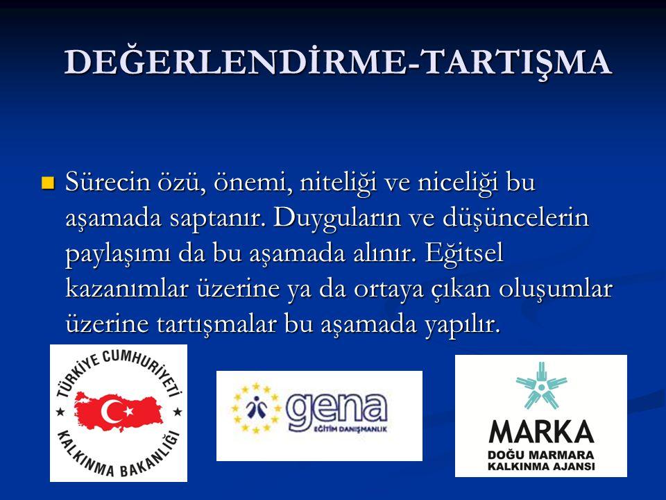 DEĞERLENDİRME-TARTIŞMA