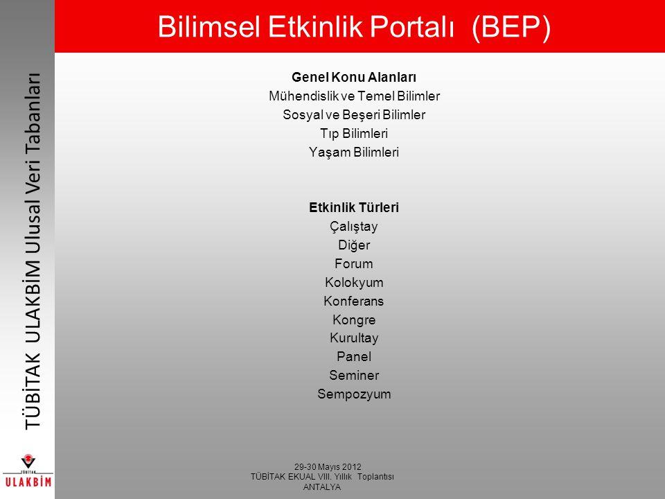 Bilimsel Etkinlik Portalı (BEP)