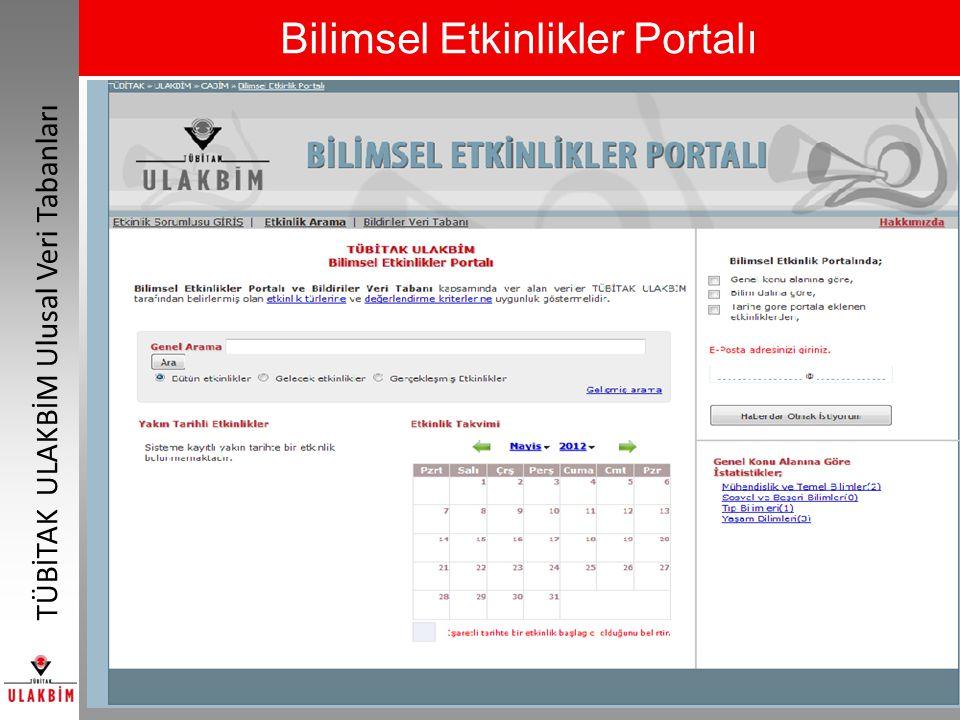 Bilimsel Etkinlikler Portalı