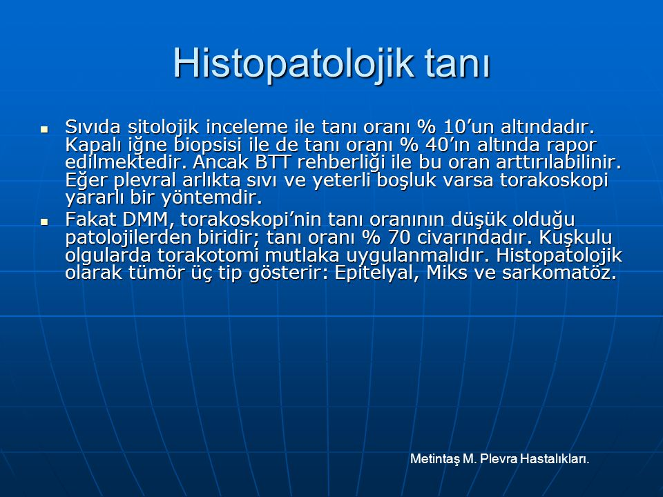 Histopatolojik tanı