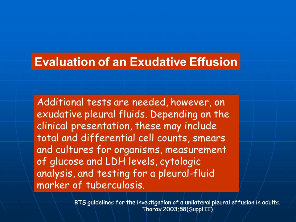 Evaluation of an Exudative Effusion