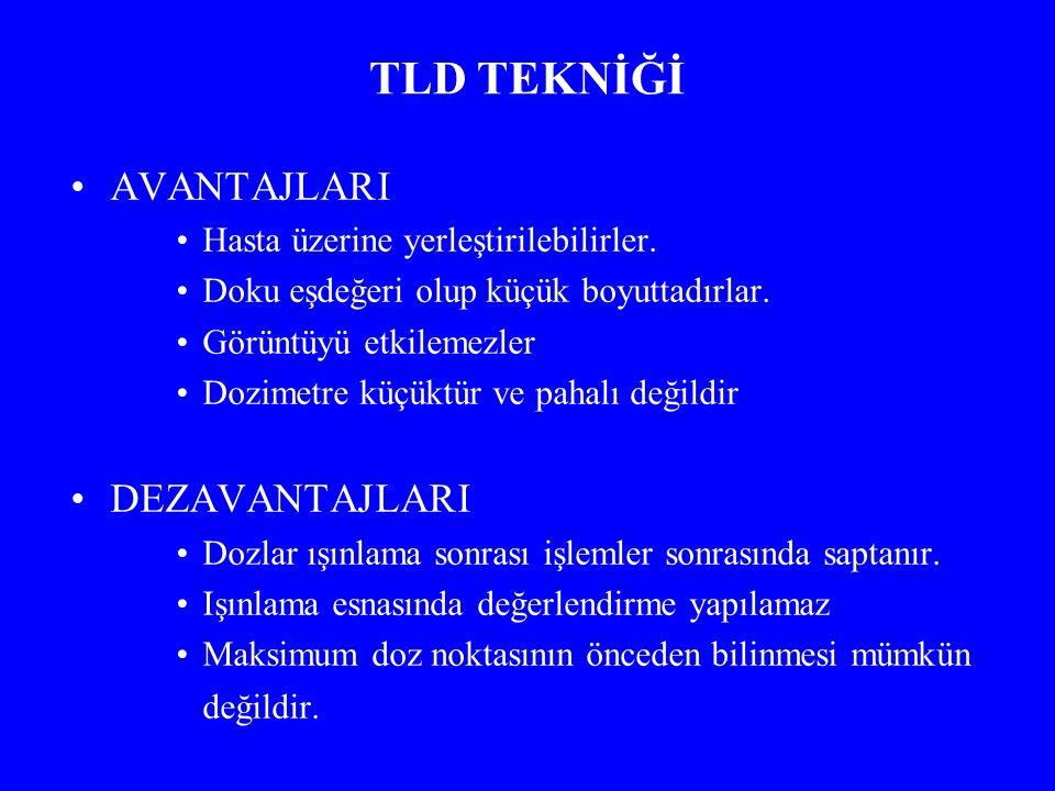 TLD TEKNİĞİ AVANTAJLARI DEZAVANTAJLARI