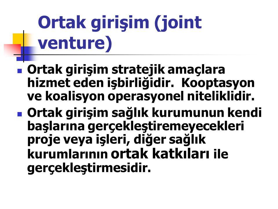 Ortak girişim (joint venture)