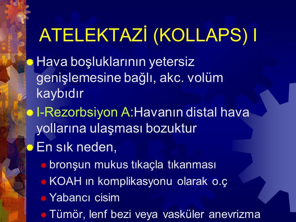 ATELEKTAZİ (KOLLAPS) I