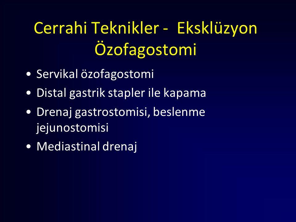 Cerrahi Teknikler - Eksklüzyon Özofagostomi