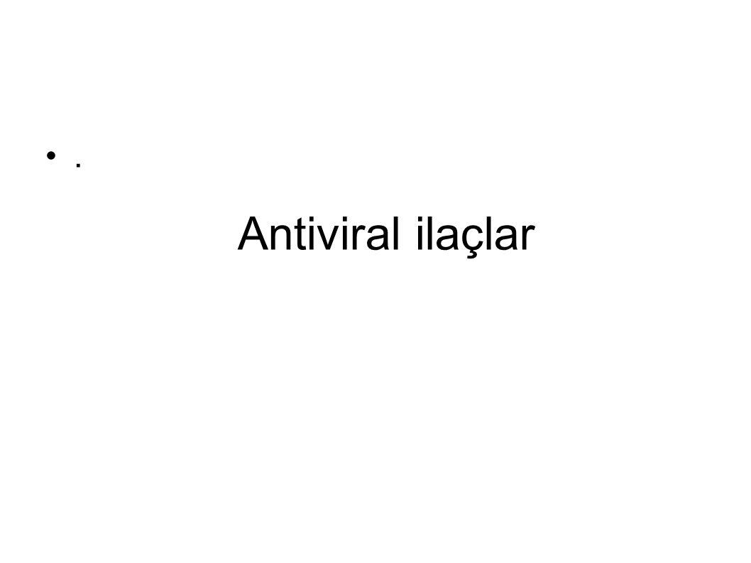 . Antiviral ilaçlar