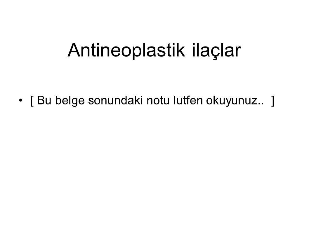Antineoplastik ilaçlar