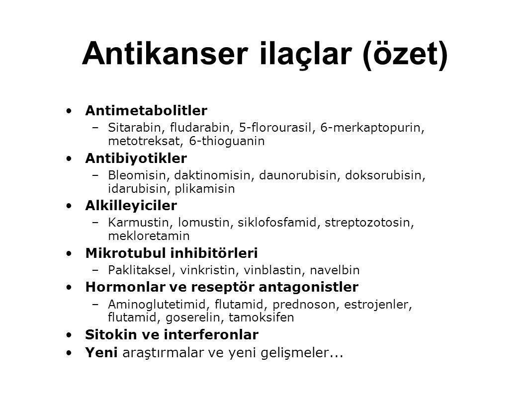Antikanser ilaçlar (özet)
