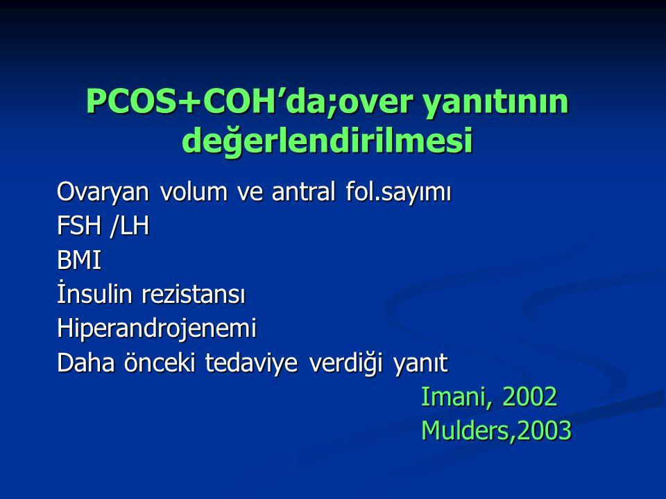 PCOS+COH'da;over yanıtının değerlendirilmesi
