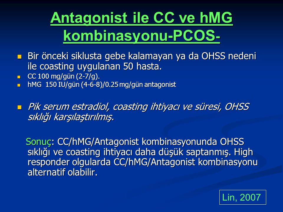 Antagonist ile CC ve hMG kombinasyonu-PCOS-