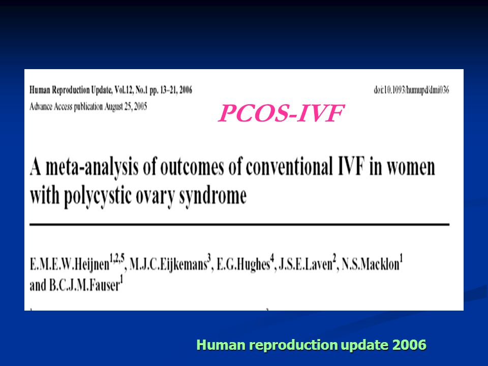 PCOS-IVF Human reproduction update 2006