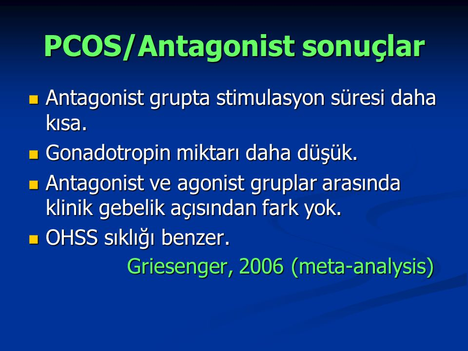 PCOS/Antagonist sonuçlar