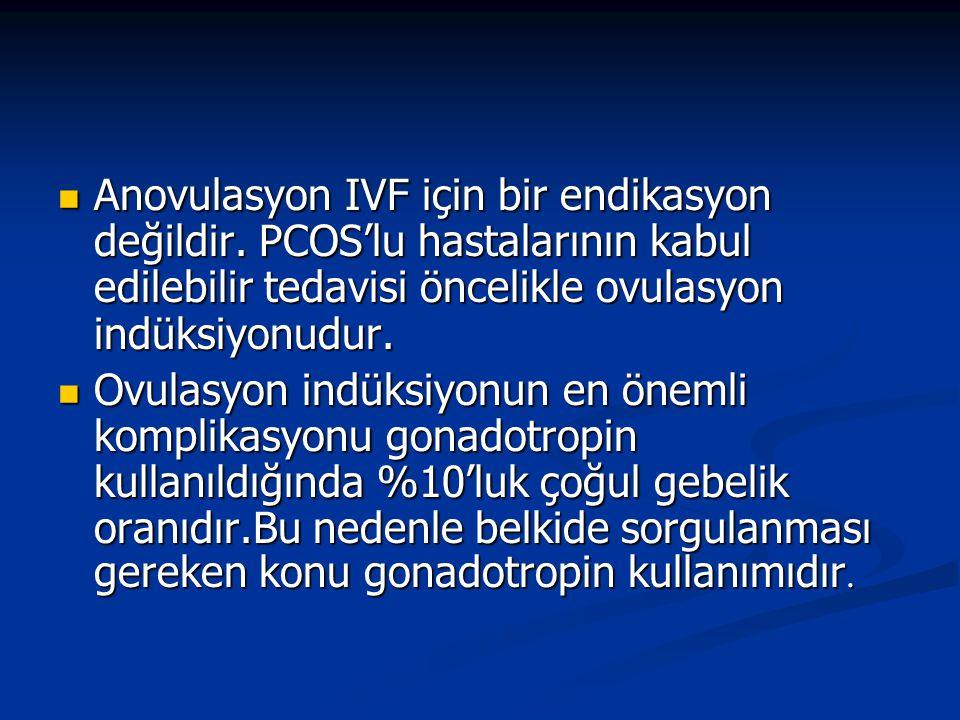 Anovulasyon IVF için bir endikasyon değildir