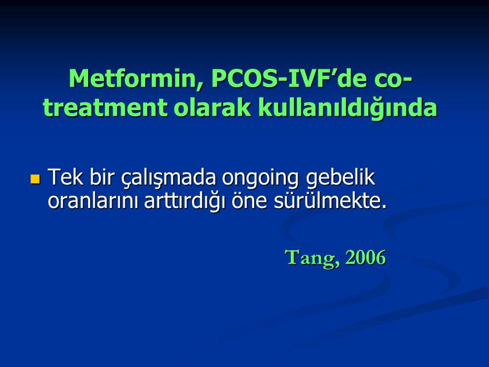 Metformin, PCOS-IVF'de co-treatment olarak kullanıldığında