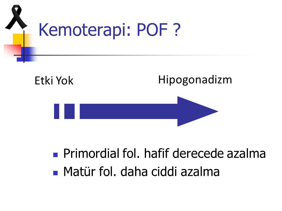 Kemoterapi: POF Hipogonadizm Etki Yok