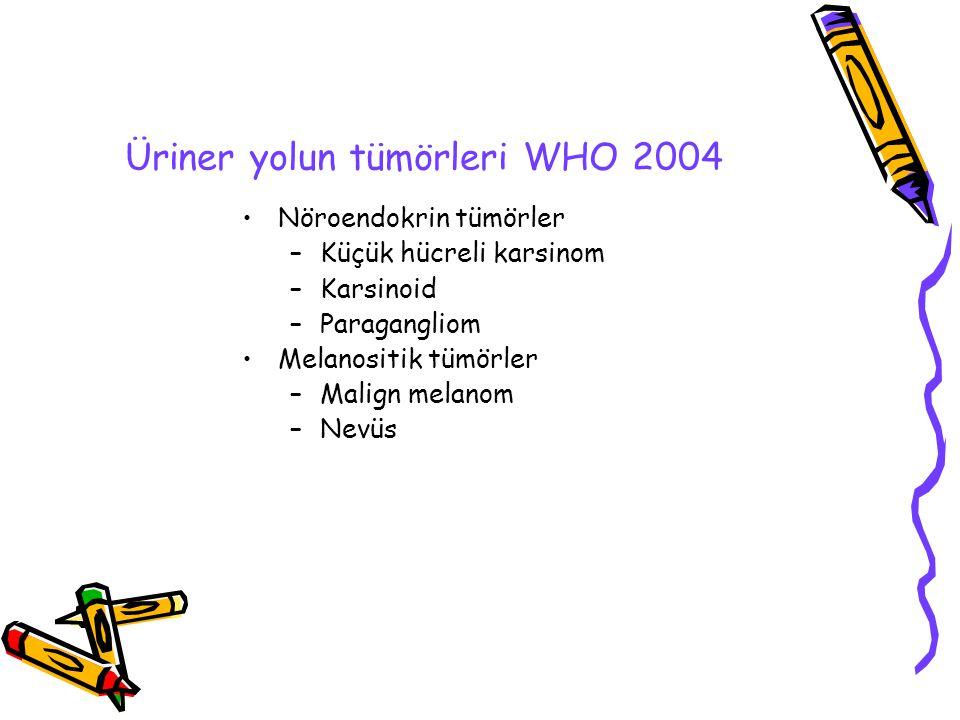 Üriner yolun tümörleri WHO 2004