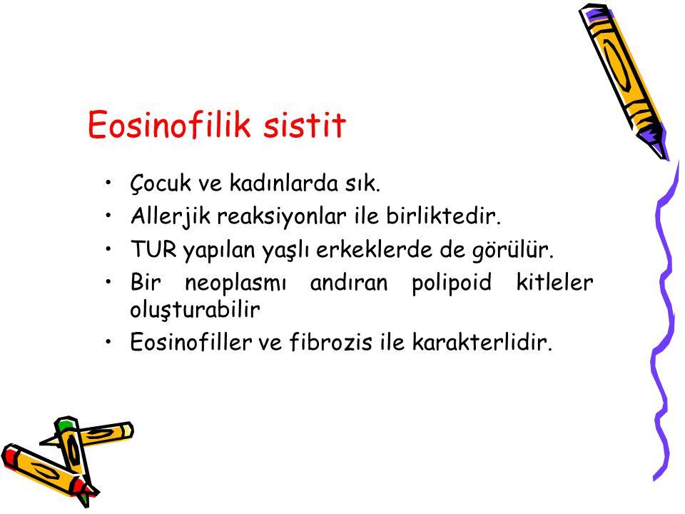 Eosinofilik sistit Çocuk ve kadınlarda sık.