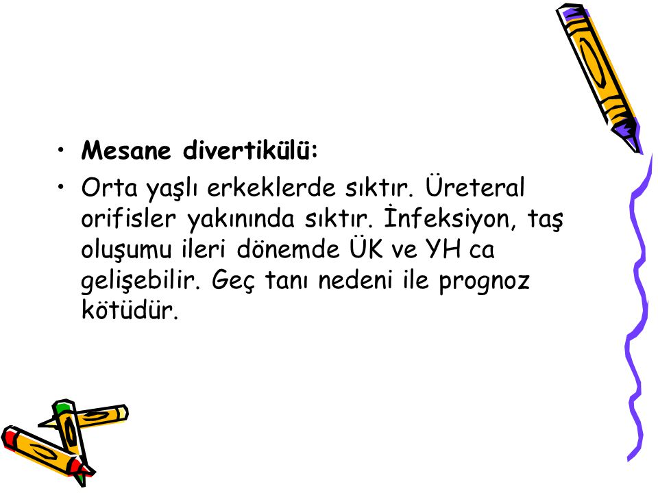 Mesane divertikülü: