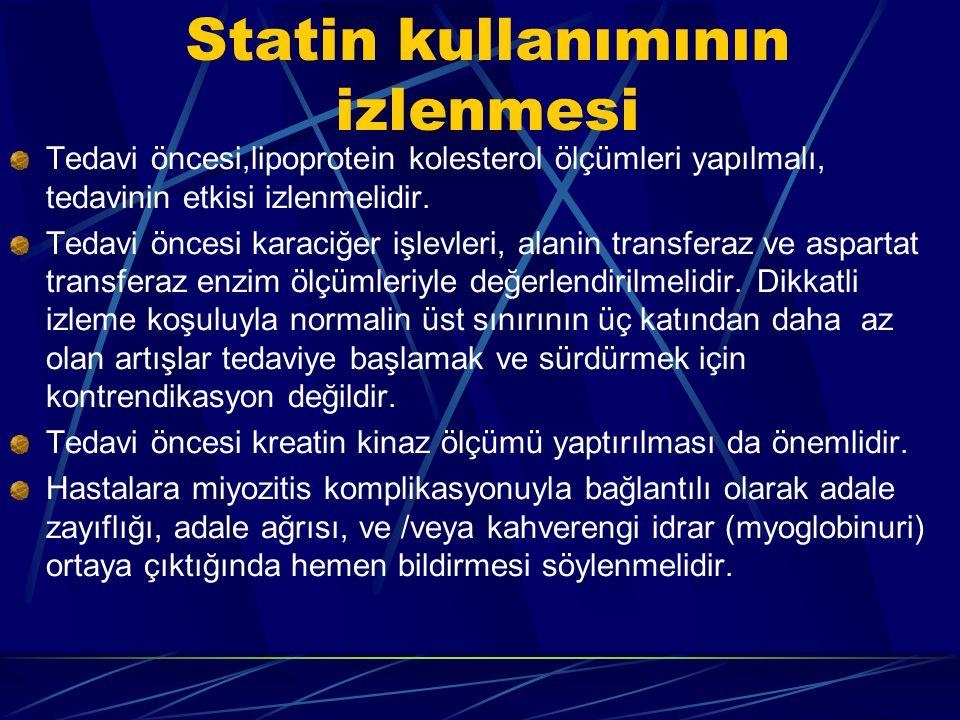 Statin kullanımının izlenmesi