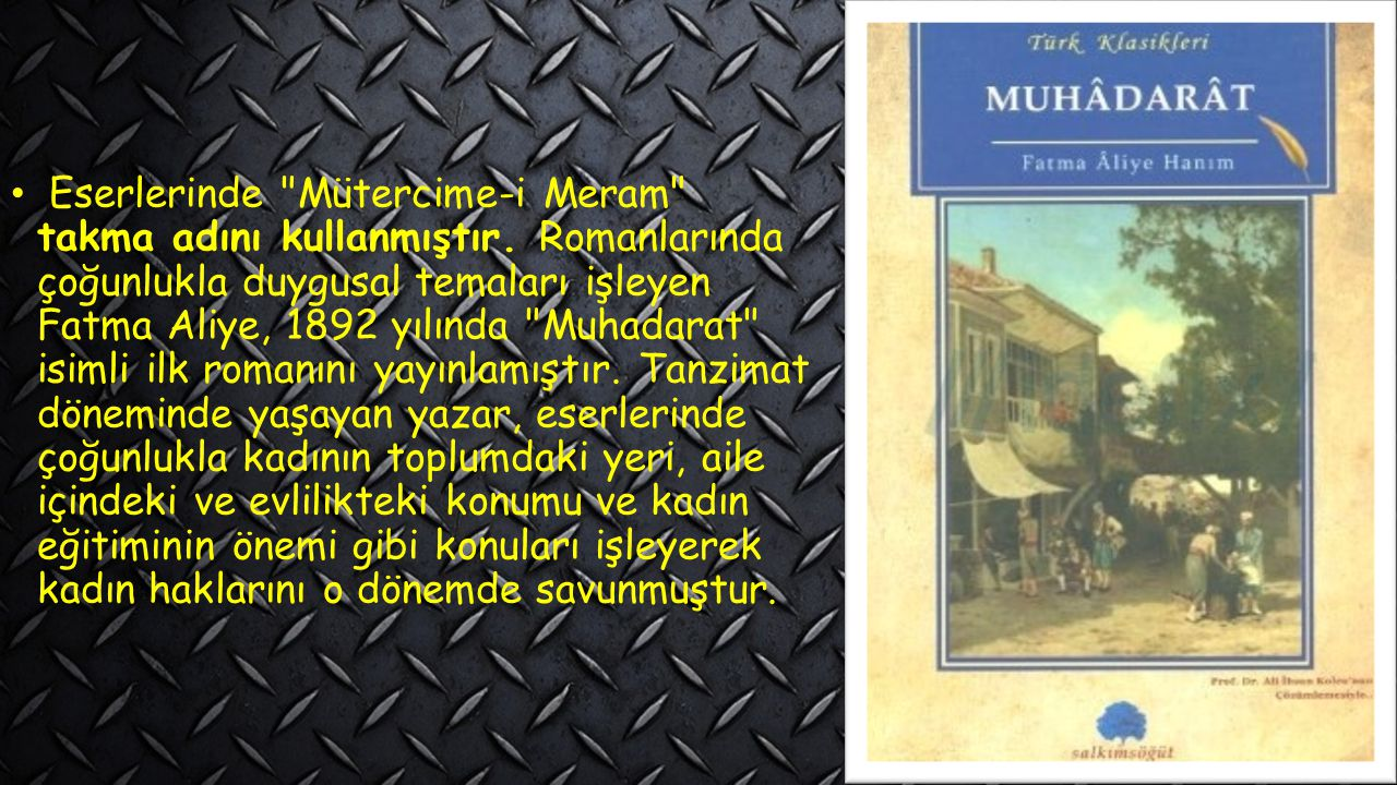 Eserlerinde Mütercime-i Meram takma adını kullanmıştır