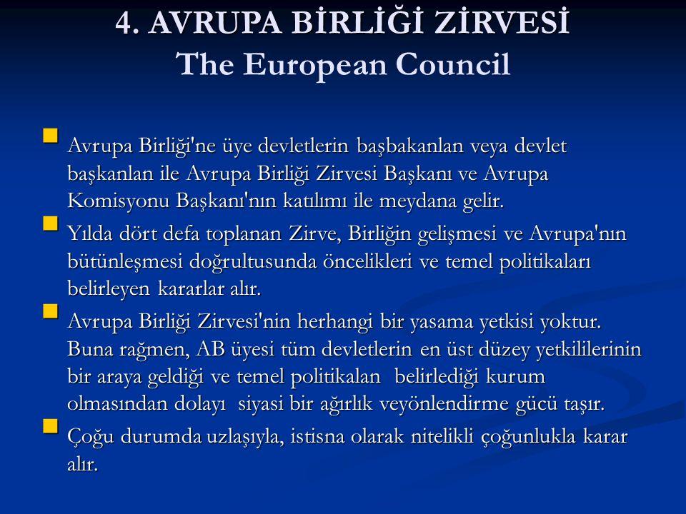 4. AVRUPA BİRLİĞİ ZİRVESİ The European Council