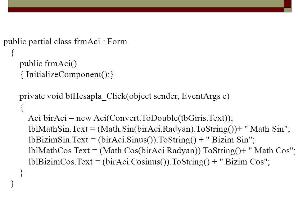 public partial class frmAci : Form